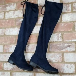 NWT Navy Knee High Boots